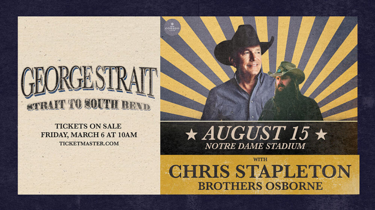 Pre-Sale Info: Notre Dame Stadium w/ George Straight and Chris Stapleton