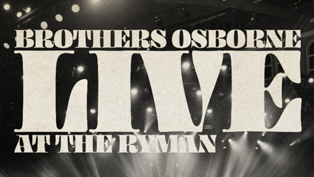 "New Album ""Live At The Ryman"" - Available October 11"