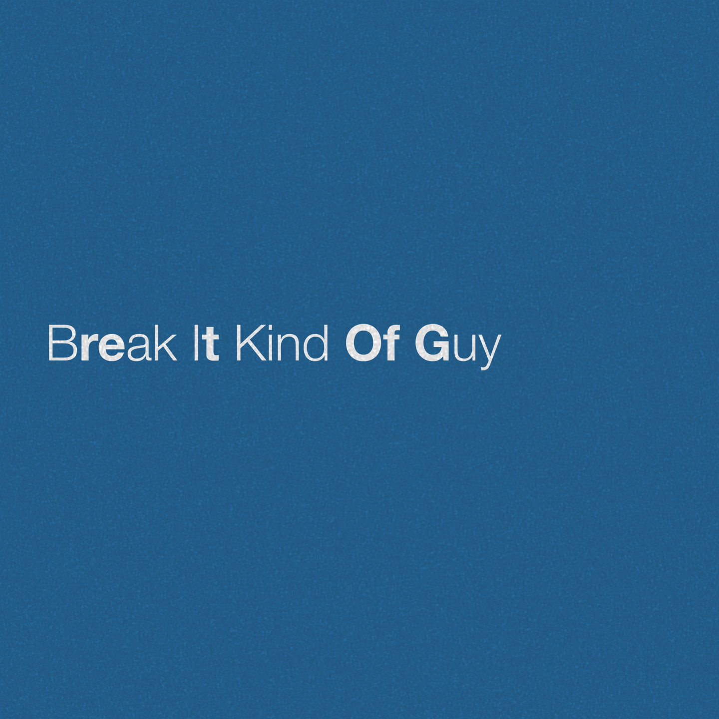 Break It Kind Of Guy