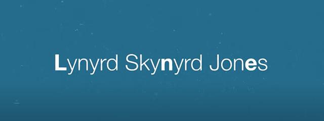 """Lynyrd Skynyrd Jones"" Lyric Video"