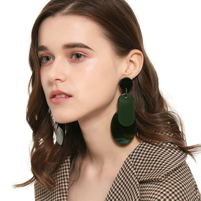 Acrylic Forest Plate Earrings