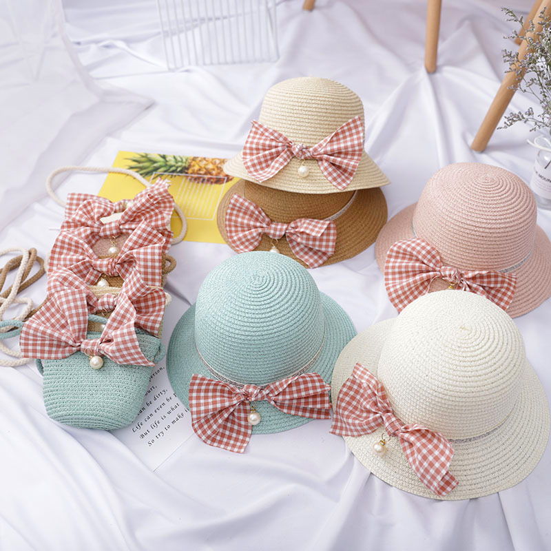 Gingham Bow and Straw Collection (Hats and Bags)