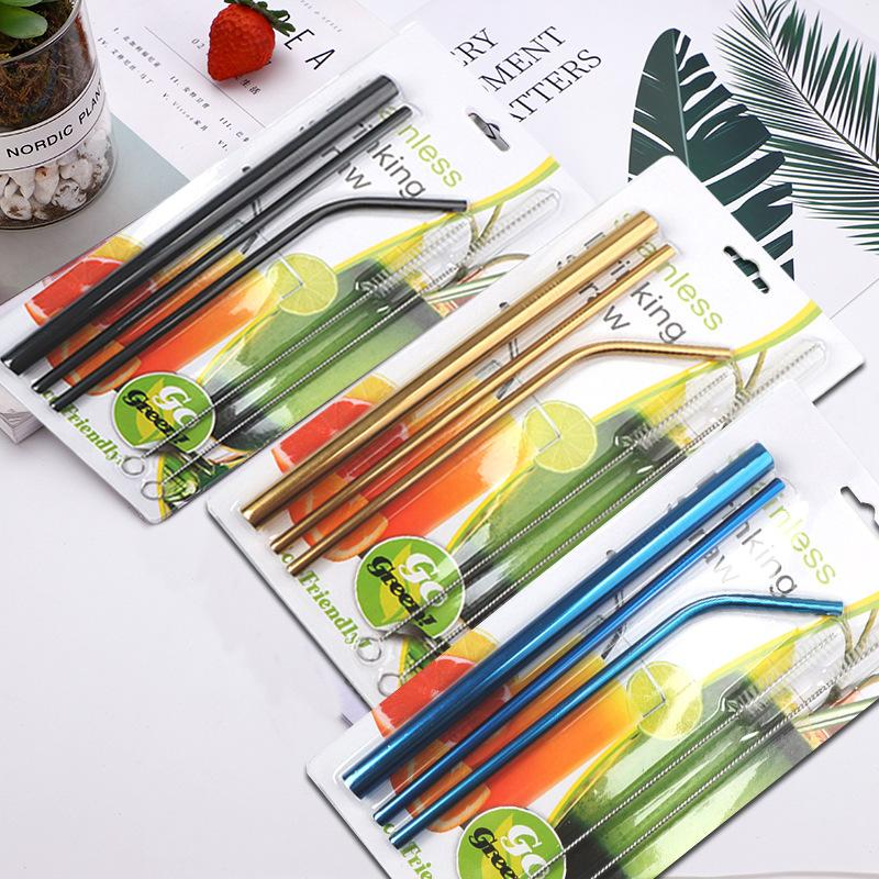 All Kinds of Straw Stainless Steel Set