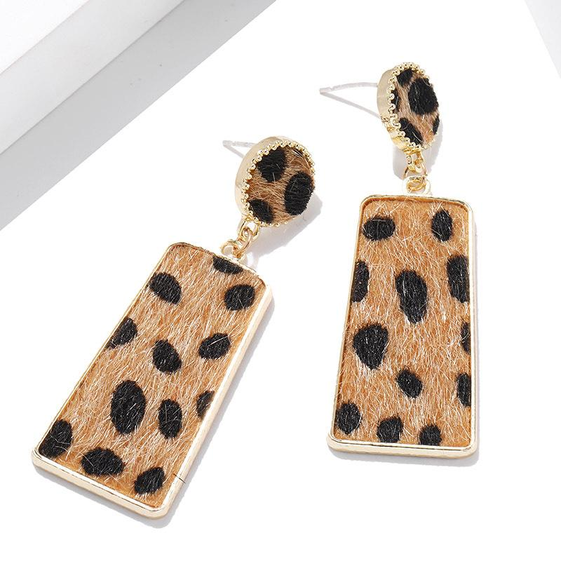 Suede Leopard Earrings