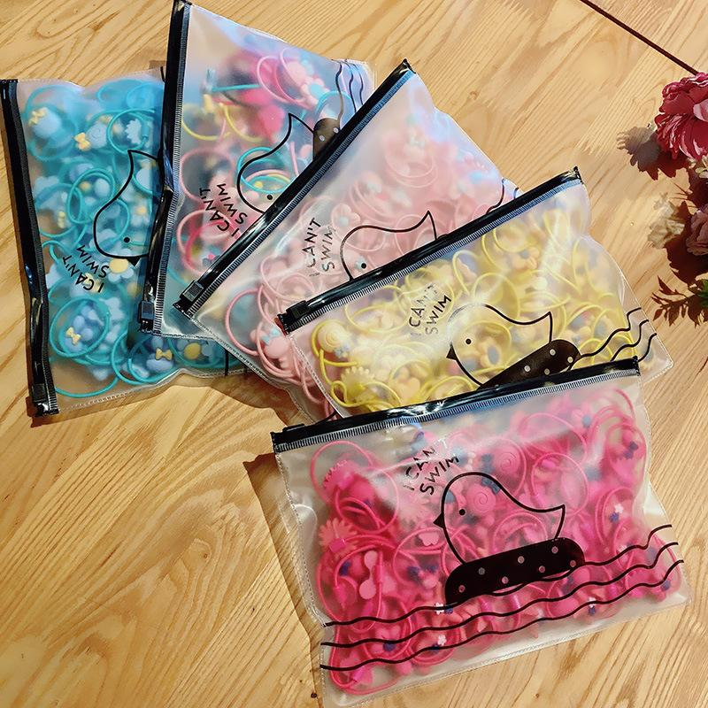 Chansel Cute Color Hair Ties in Pouch