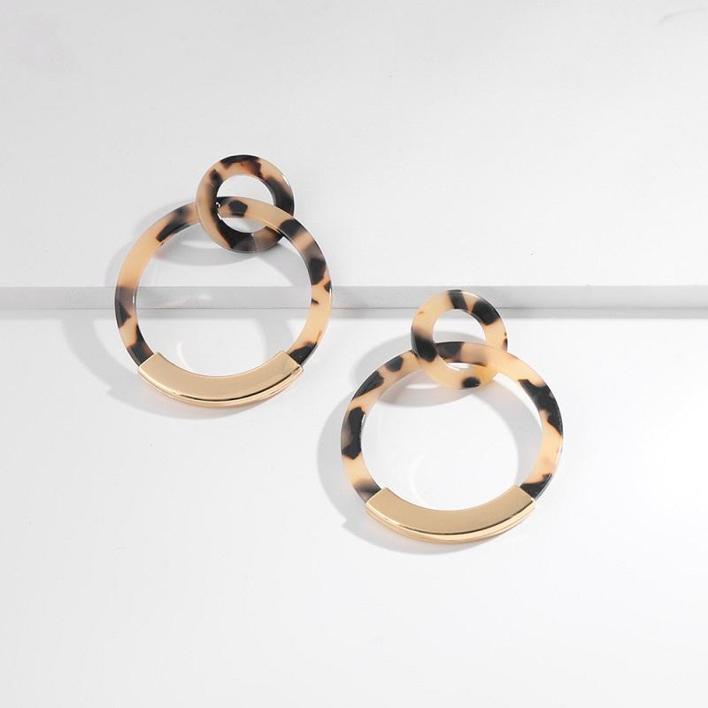 Acrylic and Gold Earrings