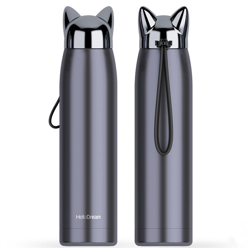 Cats Ears Travel Thermos with Rope