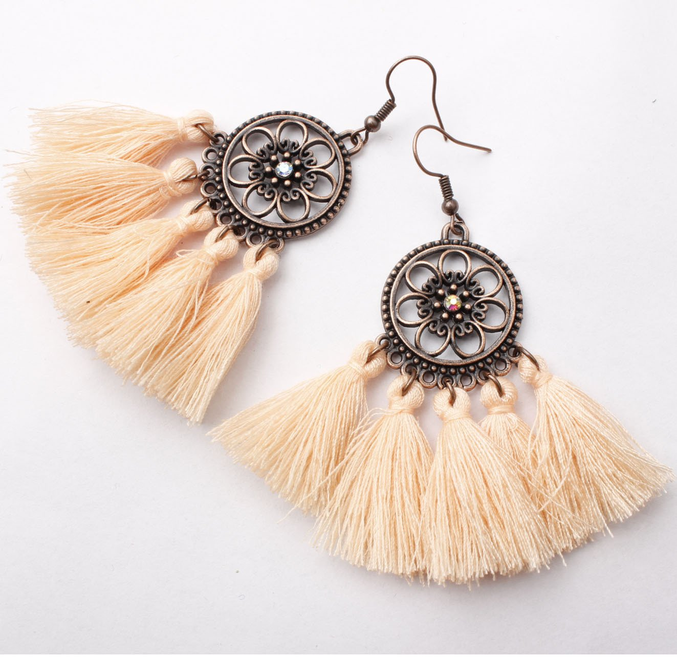 Aiba Boho Tassel Earrings