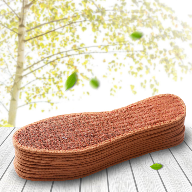 Brown Silk Insole