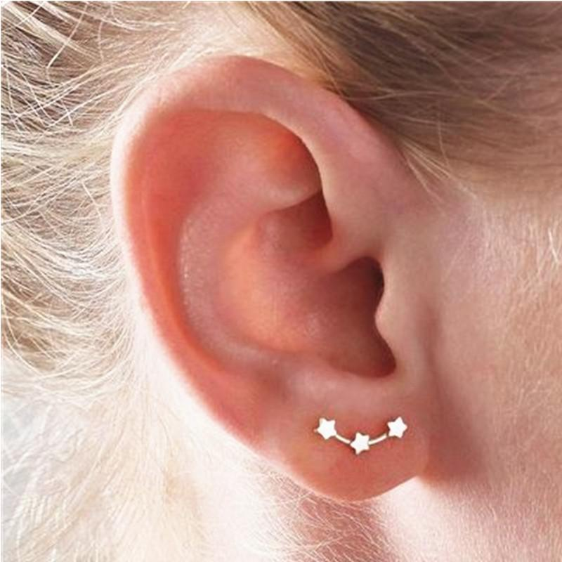 Three Stars Climber Earrings
