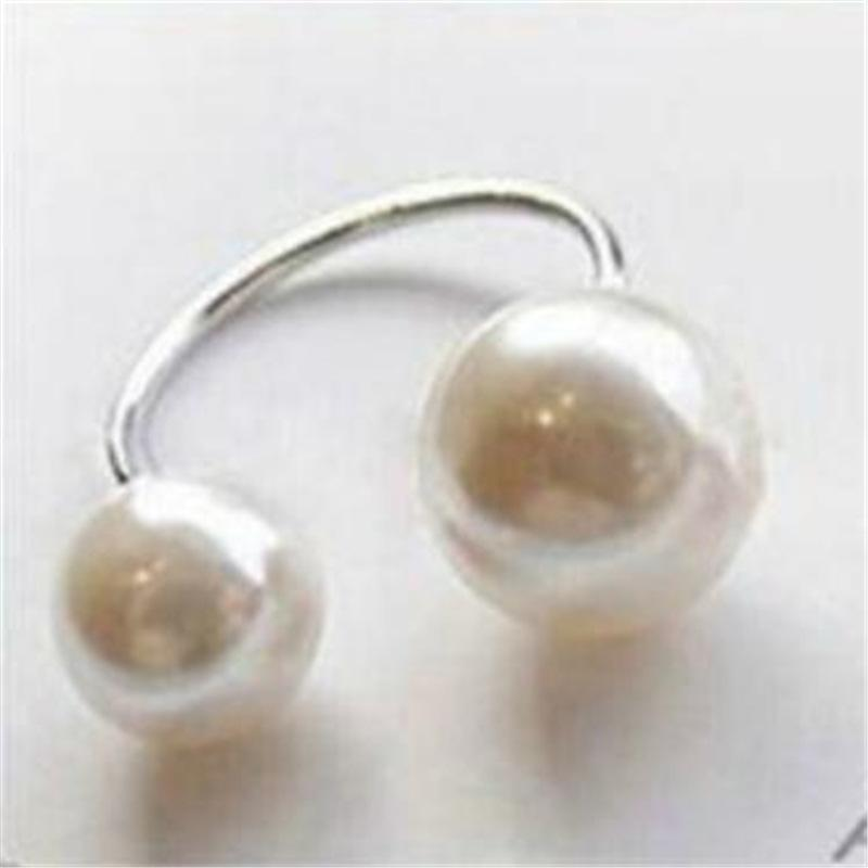 Pearl and a Pearl Open Ring