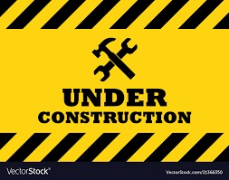 Under construction sign Royalty Free Vector Image