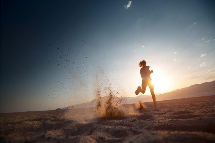 Woman Running On Sand Story