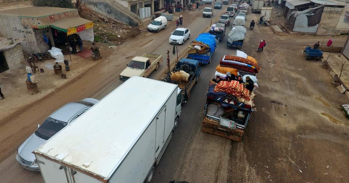A medida que el ejército sirio avanza hacia Idlib, se está produciendo un éxodo masivo