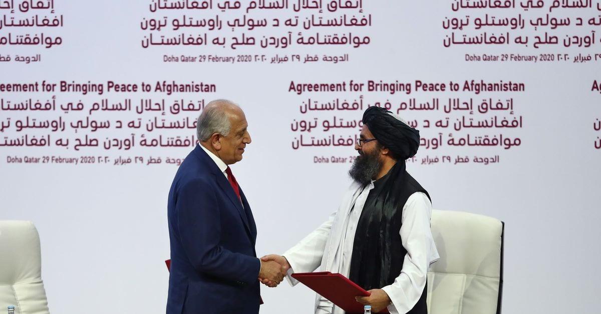 Según un acuerdo de paz entre Estados Unidos y los talibanes, todas las tropas estadounidenses saldrán de Afganistán en abril de 2021.