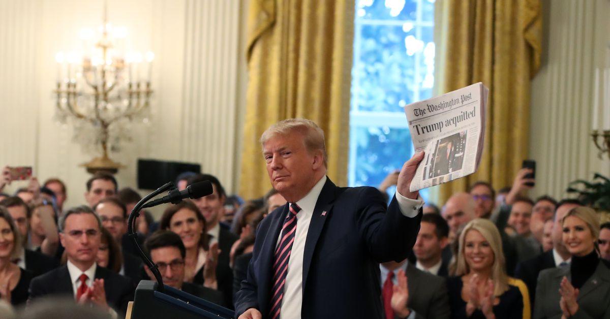 Discurso de Trump hoy: lea la vuelta de la victoria posterior a la acusación del presidente