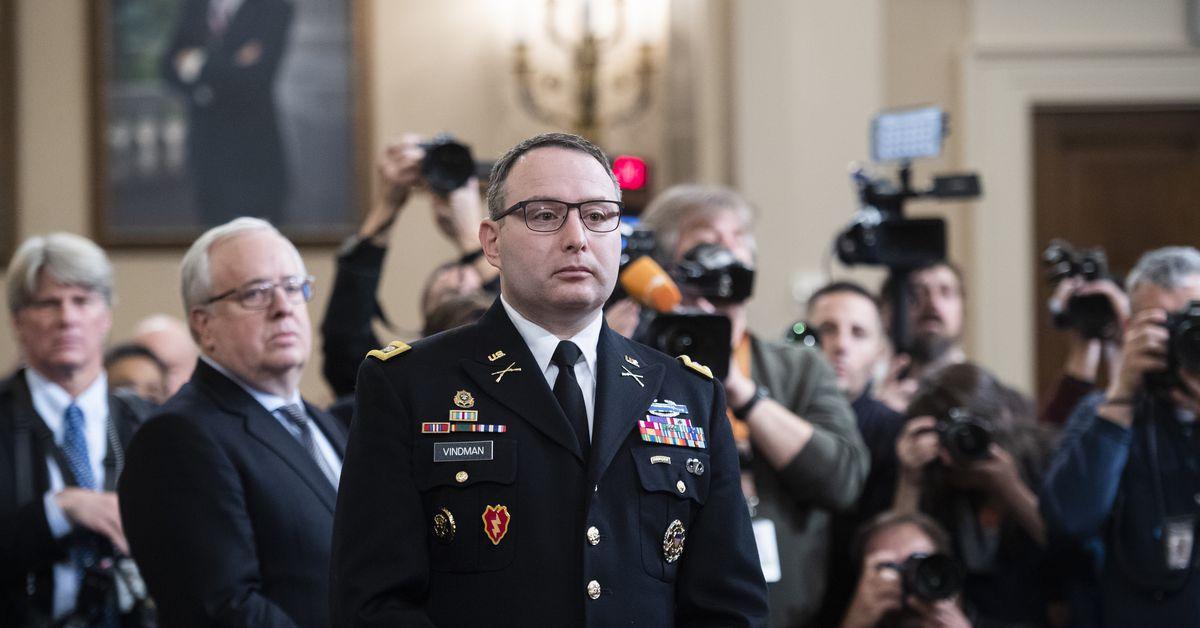 Alexander Vindman será reasignado del Consejo de Seguridad Nacional