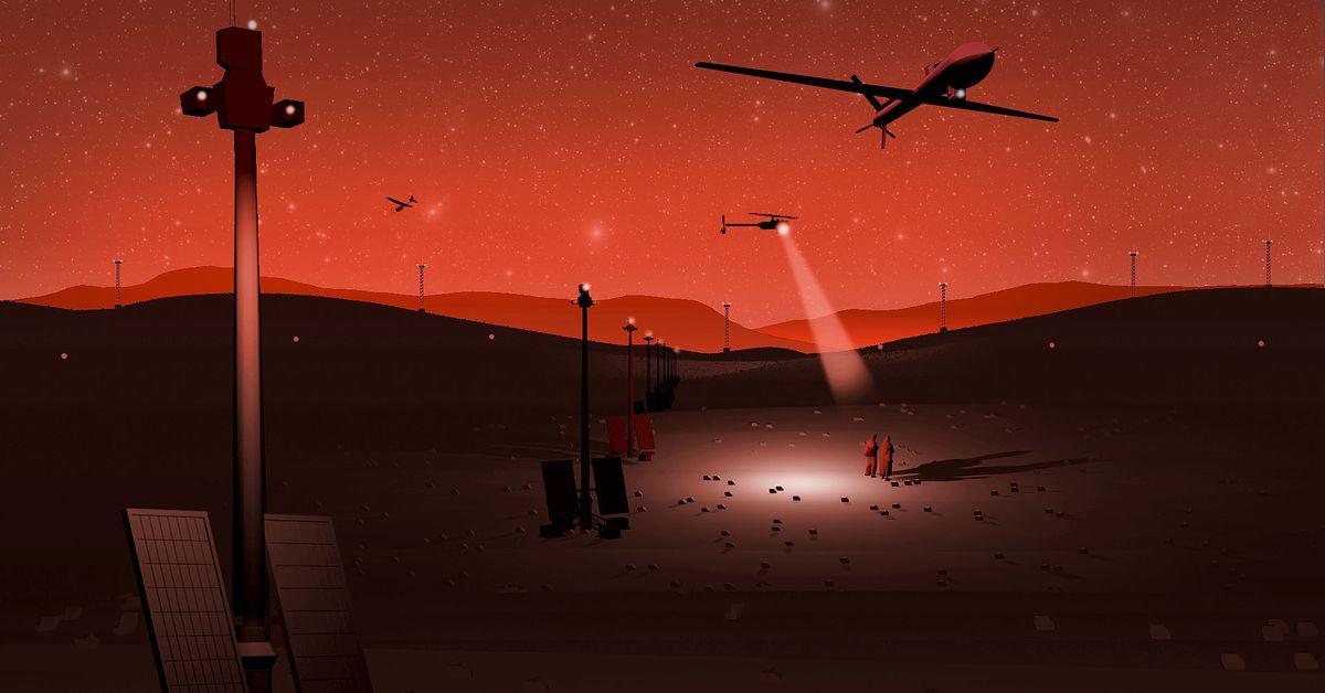 """El muro """"más inteligente"""": cómo drones, sensores e inteligencia artificial patrullan la frontera"""