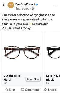 Ejemplo de marketing predictivo eyebuydirect
