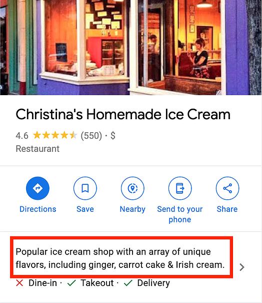 introducción optimizada en google mi perfil comercial