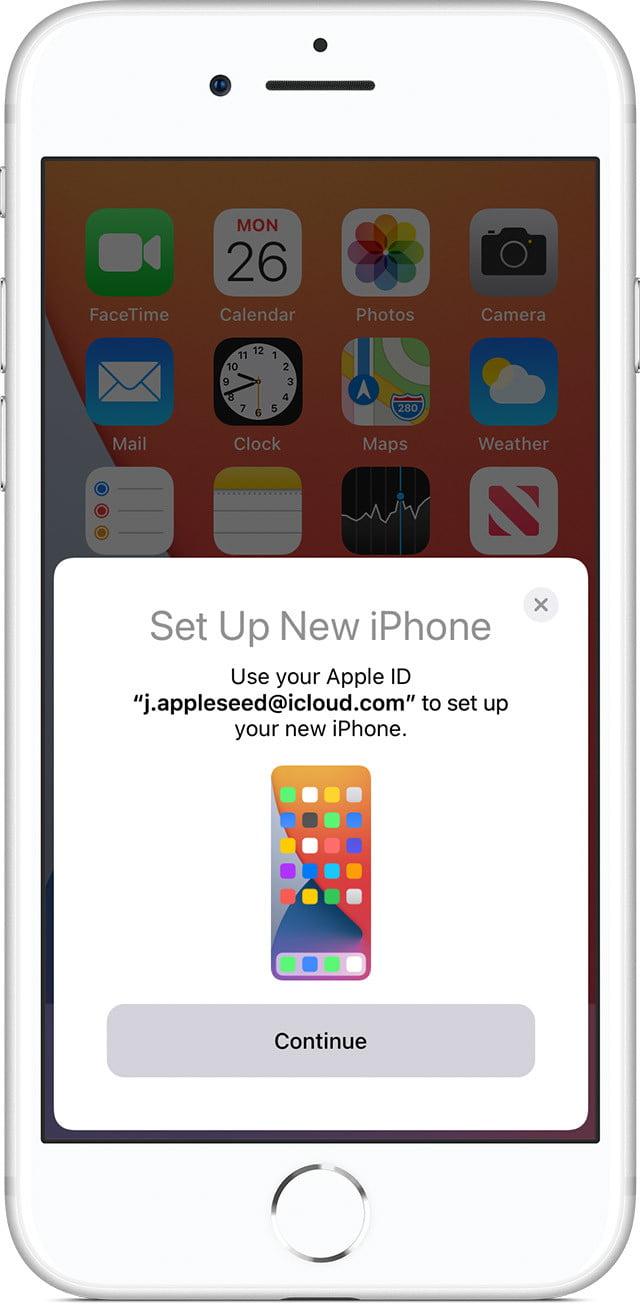 consejos y trucos para configurar su nuevo dispositivo de configuración de inicio rápido iphone 12 ios14 iphone8