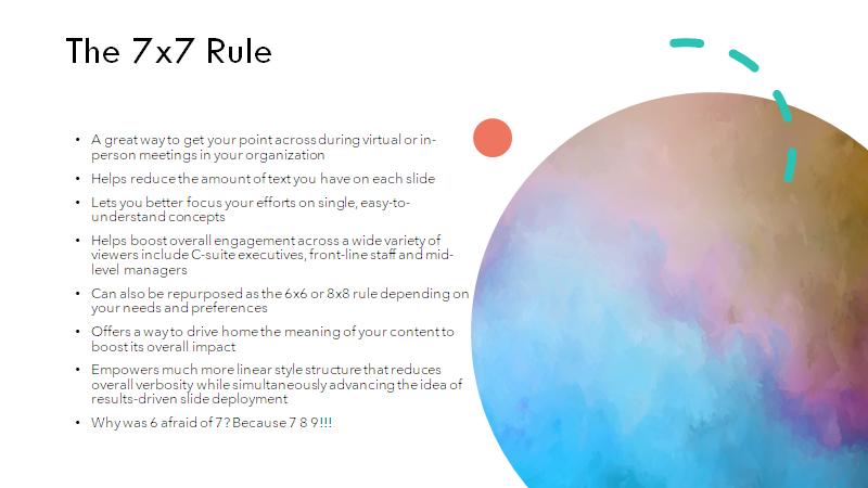 mal ejemplo de la regla 7x7 en powerpoint