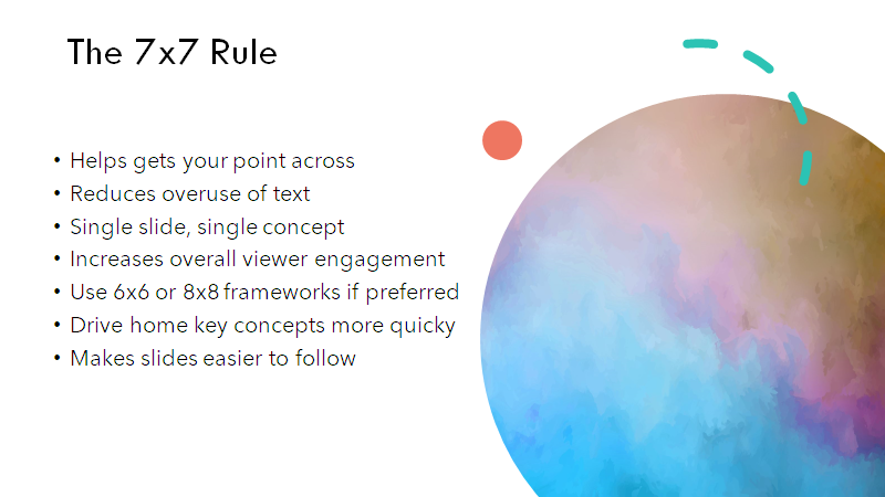 GRAN ejemplo de la regla 7x7 en powerpoint