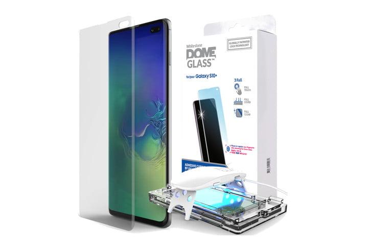 Protector de vidrio tipo domo Whitestone para Samsung Galaxy S10 +