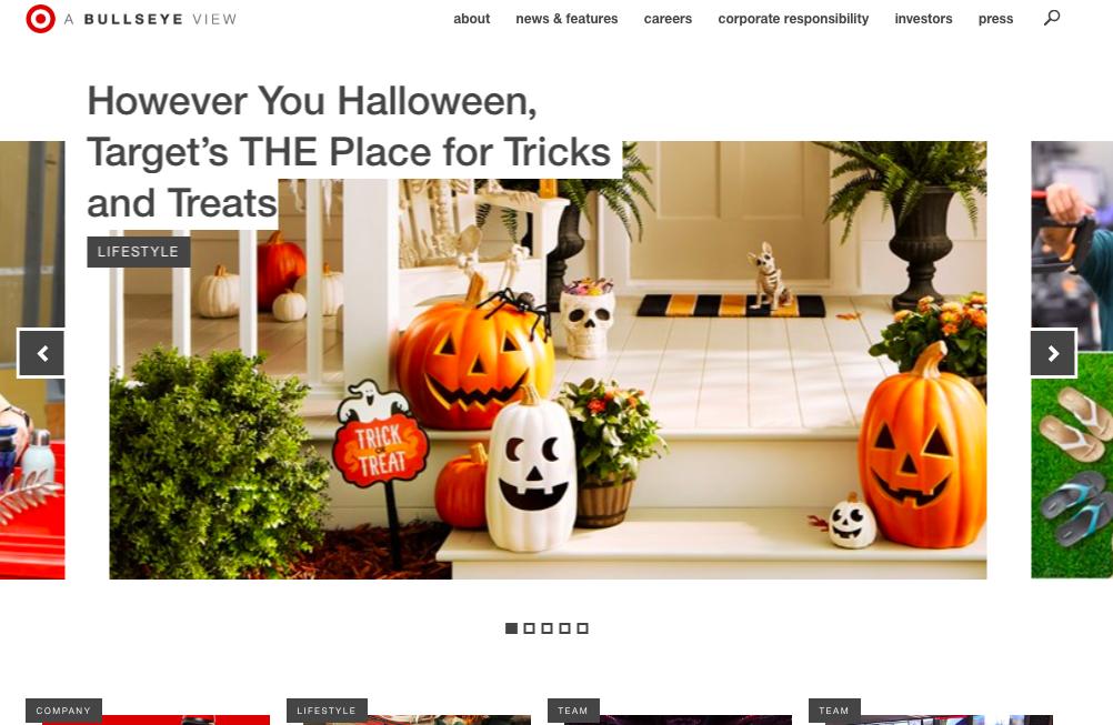 Ejemplo de buenos nombres de blogs de Target