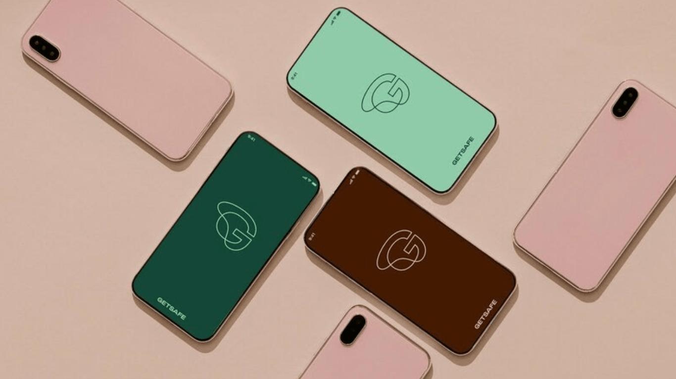 rebrand image of smartphones for Getsafe company