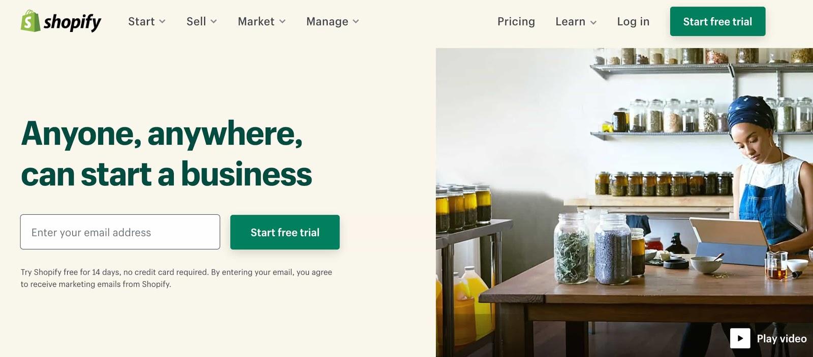 página de lanzamiento tradicional con un ejemplo de formulario de generación de clientes potenciales