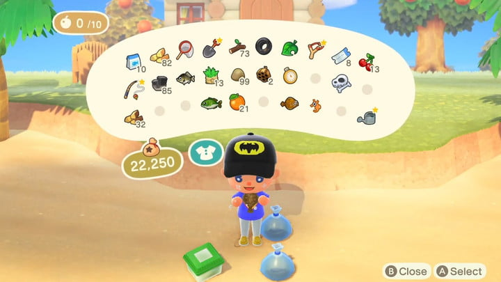 Animal Crossing New Horizon más inventario