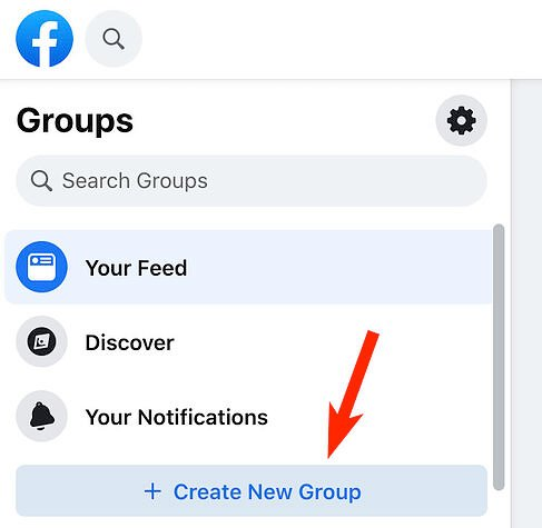 crear nuevo botón de grupo en facebook