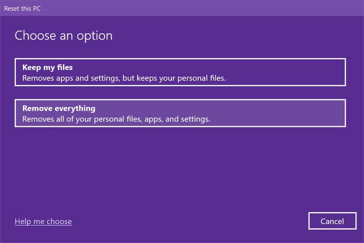 Windows 10 eliminar todo