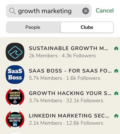 Growth Marketing Clubs