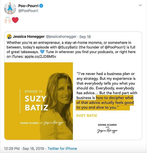 Poo-Pourri uses social media to boost brand reputation.