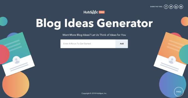 blog topic generator tool