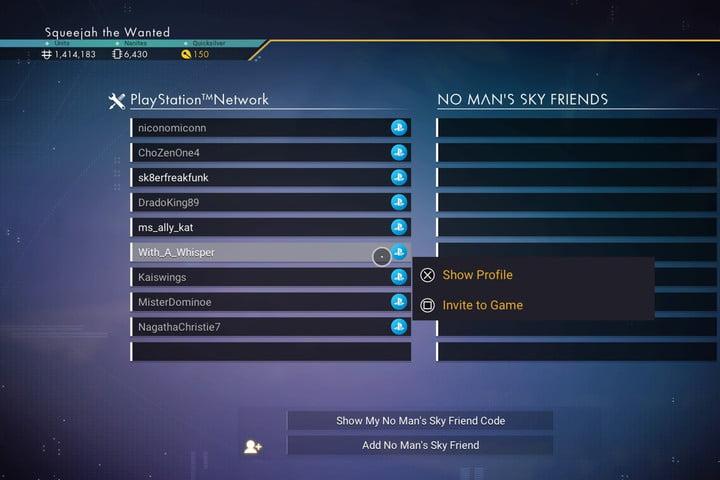 Invitación de No Man's Sky