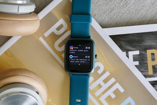 Compré el reloj inteligente más barato en las notificaciones voluntarias de relojes inteligentes de Amazon.