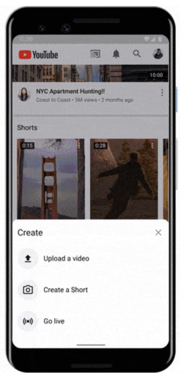 Dónde aparecerán los cortos de YouTube en la aplicación de YouTube