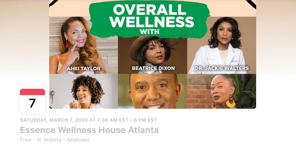 Una foto de portada de Overall Wellness que muestra a los oradores en el evento de Atlanta de The Honey Pot Company