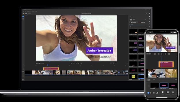 Software de edición de video Premiere Pro en PC y dispositivos móviles