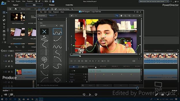Software de edición de video CyberLink PowerDirector que ajusta la configuración de la pantalla