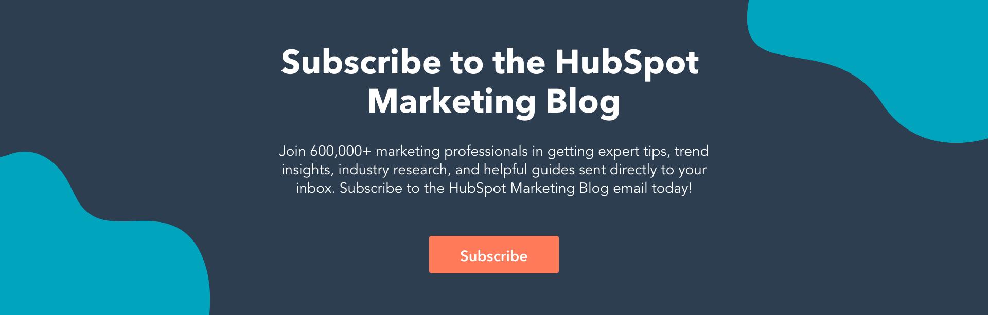 blog de marketing de hubspot