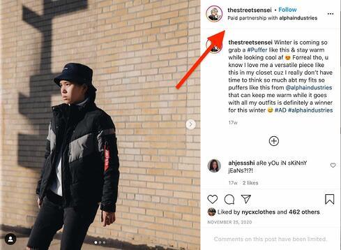 ejemplo de marketing de rendimiento en Instagram