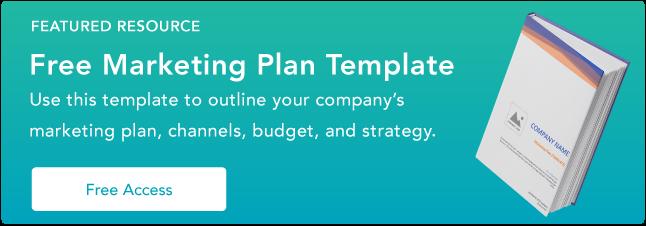 Plantilla de plan de marketing