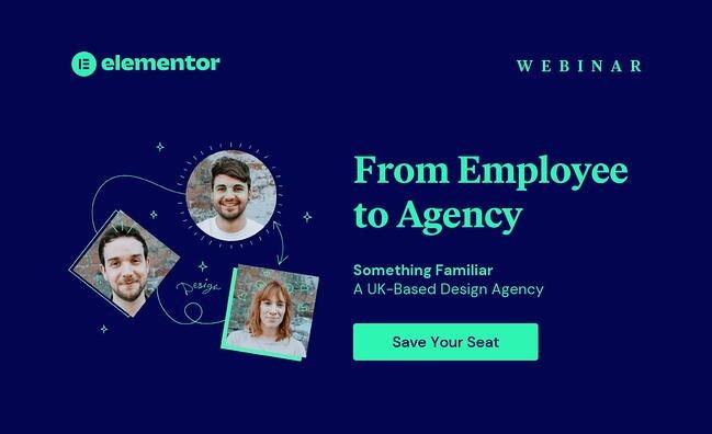Encabezado de invitación al seminario web de Elementor