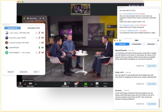 Un ejemplo de seminarios web de Zoom