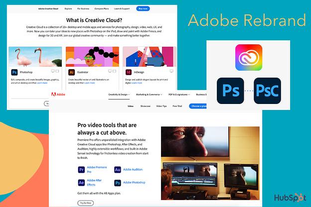 Cambio de marca de Adobe de Creative Cloud