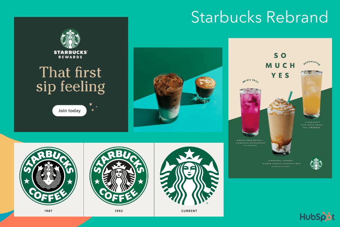 Un ejemplo de cambio de marca, el impresionante cambio de marca de Starbucks